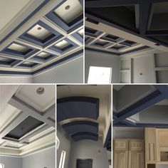 Gray and blue ceiling Hallway Ceiling, Blue Ceilings, Gray, House, Home, Grey, Homes, Houses