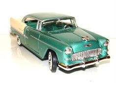 1955 Chevy Bel Air Diecast  Model 1:24 Green New ! Die Cast Cars and Trucks