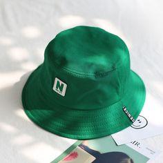 8d962e985b0aa 2018 green Bucket Hat Fisherman Hats Men Women Outer Summer Street Hip Hop  Dancer Cotton Panama