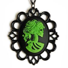 Lolita Cameo Necklace Green, $26, now featured on Fab.