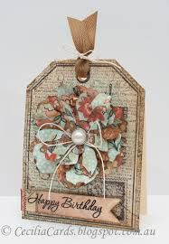 tattered floral card