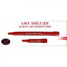 Amy Deluxe Acryl-Griffstück und Endstück 2.0 rot von Amy Shishas, S215AC-RO