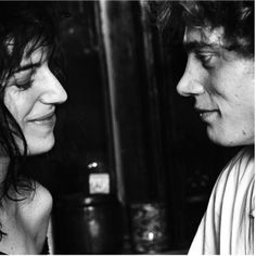 """Patti Smith (& Robert Mapplethorpe) // """"It's a dark period now because everyone is beguiled by fame. I think that true artists just have… Patti Smith Robert Mapplethorpe, Kids Inspire, Tv Girls, Just Kidding, Best Couple, Cool Pictures, The Cure, Photo And Video, Portrait"""