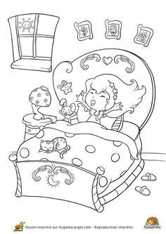 Une princesse faisant de la balan oire colorier coloriage pinterest - Dessin muurschildering chambre fille ...
