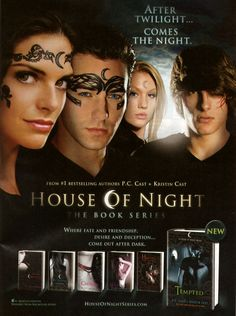 House of Night series. hmmmm. I actually like this book series. I hope they dont mess it up. Already looks like their markings are sucky just from the pictures. I really hope they do a good job