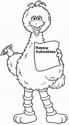sesame street printable coloring pages valentine