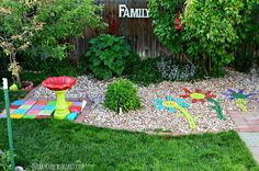 This awesome mom spent the day with her daughter turning old discarded bricks into a fun and whimsical addition to her yard!
