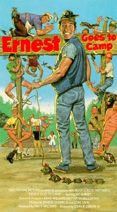 ernest goes to camp vhs art - Google Search