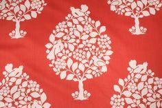 Floral/Vine Prints :: Duralee Tree of Life Printed Cotton Drapery Fabric in persimmon $14.95 per yard - Fabric Guru.com: Fabric, Discount Fabric, Upholstery Fabric, Drapery Fabric, Fabric Remnants, wholesale fabric, fabrics, fabricguru, fabricguru.com, Waverly, P. Kaufmann, Schumacher, Robert Allen, Bloomcraft, Laura Ashley, Kravet, Greeff
