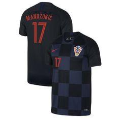 bea4ab3f37a Men #17 Mario Mandžukić Jersey Croatia National 2018 FIFA World Cup Fanatics