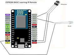 Easiest Learning IR Remote Control Via WIFI : 4 Steps (with Pictures) - Instructables Esp8266 Projects, Simple Arduino Projects, Iot Projects, Esp8266 Arduino, Arduino Modules, Wifi Arduino, Diy Electronics, Electronics Projects, Electronic Circuit Projects