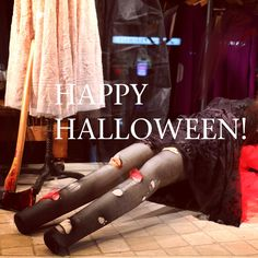 Our Halloween window featuring Johnny Was Collection and Biya