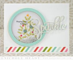 Holiday Sparkle Card  Sparkle and Shine additions Sept 2014