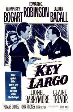 Director: John Huston | Reparto: Humphrey Bogart, Edward G. Robinson, Lauren Bacall, ... | Género: Cine negro | Sinopsis: Frank McCloud (Humphrey Bogart) es un veterano de guerra que viaja a Cayo Largo, en Florida, para visitar al padre (Lionel Barrymore) y a la viuda (Lauren Bacall) de un compañero muerto en combate. Pero su estancia se complica, ya que en su hotel se aloja también una ...