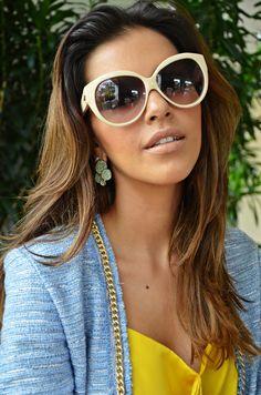 Mariana Rios. Óculos: Evoke