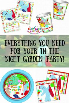 Join Igglepiggle Upsy Daisy and the rest of the gang for the ultimate In The  sc 1 st  Pinterest & In The Night Garden Party Items Tableware Decorations All Under One ...