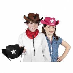 Cowboyhoed sheriff ster kleur roze