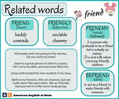 'Friend' and a few related words.