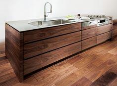 カスタムキッチン Sawed wood custom kitchen