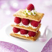 Millefeuilles of Small Butter Raspberry - Marie Claire Maison