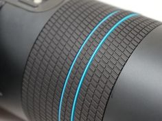 Lens, camera, ring, blue, plastic, rubber, black