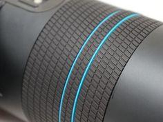 Lens, camera, ring, blue, plastic, rubber, black