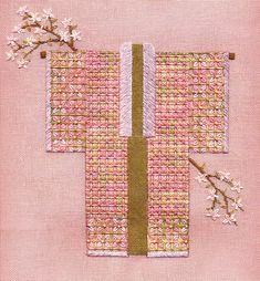 Apple Blossom Time on Congress cloth, Laura J Perin, Two-Handed Stitcher Needlepoint Stitches, Fiber Art, Embroidery, Crochet, Kimono, Apple, Collections, Ideas, Apple Fruit