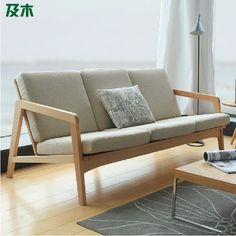 Smarter Shopping, Better Living! Aliexpress.com Wood Sofa, Industrial Design Furniture, Minimalist Furniture, Minimalist Furniture Design, Wooden Sofa Designs, Wood Furniture Design, Minimalist Sofa, Furniture Design Wooden, Furniture Design Inspiration