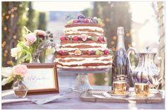 Ya vieron la nueva tendencia 2014 para pasteles? atrás quedó el fondant! #nakedcake #weddingcake