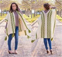 10+ Free & Stunning Crochet Poncho Patterns - The Olivine Ruanaby Olivia Kent