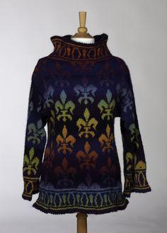 PATTERN for Fleur de Lis Sweater by denisekovnat on Etsy, $8.00