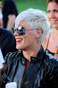 Rock out with a rocker chic pixie cut like Pink!