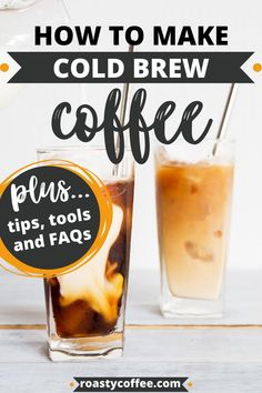 There's a big difference between simply iced coffee and cold-brewed coffee. Cold brew is coffee brewed using cold water, whiled traditional iced coffee is strong, hot-brewed coffee quickly cooled and subsequently diluted by ice. Therefore, while icing coffee achieves the desired temperature, it still has the same acidity issues as poorly made hot brews.That's what makes the cold brew system so much easier; essentially, cold brew coffee is harder to screw up. Here's how to make it. #coffee Making Cold Brew Coffee, Food Time, Coffee Recipes, Iced Coffee, Brewing, Icing, Cooking Recipes, Strong, Good Things