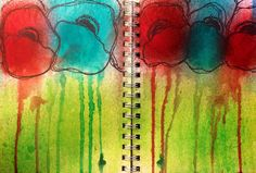 Art journal. Dylusions ink spray and sharpie.