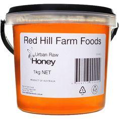 Urban Raw Honey 1kg - Red Hill Farm Foods Raw Honey, Bee Keeping, Urban, Foods, Red, Food Food