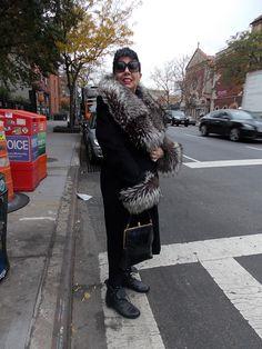 Streetstyle in New York • All Black Elegance • Photo: Alina Spiegel