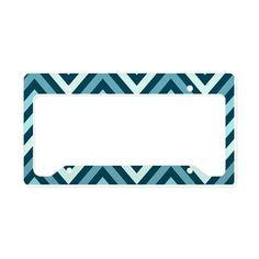 Modern Chevron Stripes License Plate Holder on CafePress.com