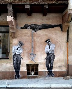 Dear art lover, today we are going to present to you Funny Art Installations By Levalet. The Beyonce of street art, this contemporary artist is turning the sad Murals Street Art, 3d Street Art, Amazing Street Art, Best Street Art, Street Art Graffiti, Street Artists, Amazing Art, Graffiti Artwork, Arte Banksy