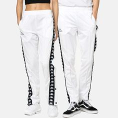 - The models are 176 and 190 cm and they are wearing size S and L. Snap Pants, Couture, Kappa, Mannequins, Parachute Pants, Sweatpants, Slim, Unisex, Sport