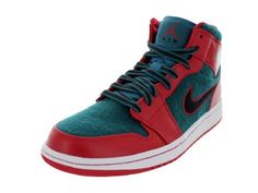 d981d14e3a40 Nike Air Jordan 1 Mid Mens Basketball Shoes Gym Red 9 M US Leather and felt  upper Cushioned midsole Rubber non marking outsole Jordan branding