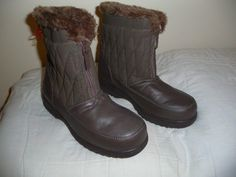 NEW Weather Protectors by Totes Womens Ladies Brown Faux Fur  Winter Boots sz 8W #totes #SnowWinterBoots