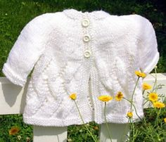 Meadowsweet Cardigan is an adorable top down lace cardigan that is worked top down in one piece. It can be made with short or long sleeves.