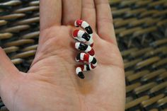 CUSTOM Dread Bead Arizona Coral Snake Loc by FragileComeUnaRosa, $10.50 Dreadlock Beads, Dread Beads, Natural Hair Accessories, Natural Hair Styles, Coral Snake, Black White Red, Dreads, Hair Pins, Earthy