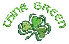 Think Green - 4x4 | St. Patrick's Day | Machine Embroidery Designs | SWAKembroidery.com VK-Digitizing