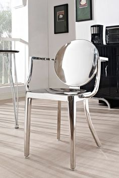 Casper Polished Stainless Steel Armchair - Silver by Modway on @HauteLook