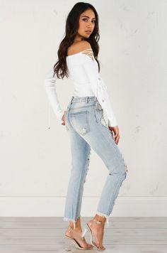 74036cbc70d4 WELLSBOURNE CUTOUT JUMPSUIT. See more. LOW RISE FRAYED HEM DENIM Jeans For  Sale