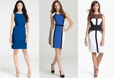 Which sheath dress is the most elegant? Which is the least?