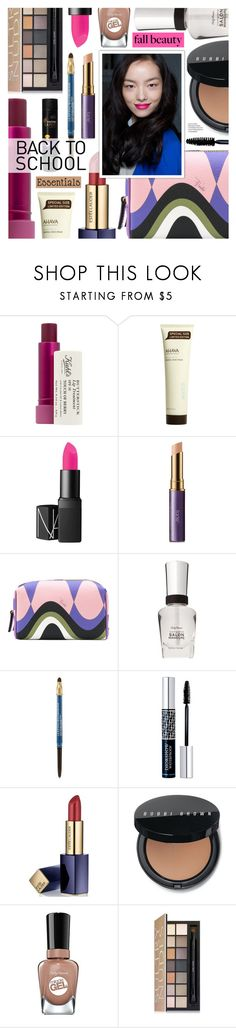 """""""Fall Beauty Essentials - Back to school"""" by cly88 ❤ liked on Polyvore featuring beauty, Kiehl's, Ahava, NARS Cosmetics, tarte, Emilio Pucci, Lancôme, Christian Dior, Estée Lauder and Bobbi Brown Cosmetics"""