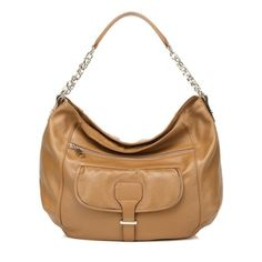 Aidyn Apricot Leather Hobo