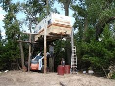 How to Build a Tree Stand Redneck Style
